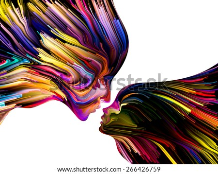 Colors of Imagination series. Abstract design made of streaks of color on the subject of art, creativity, imagination and graphic design - stock photo