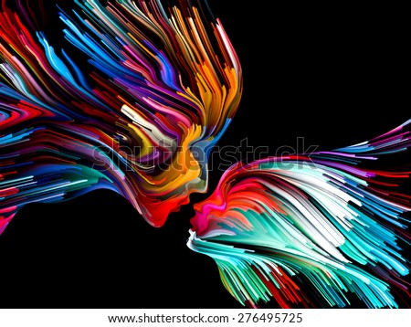 Colors of Imagination series. Composition of streaks of color on the subject of art, creativity, imagination and graphic design - stock photo
