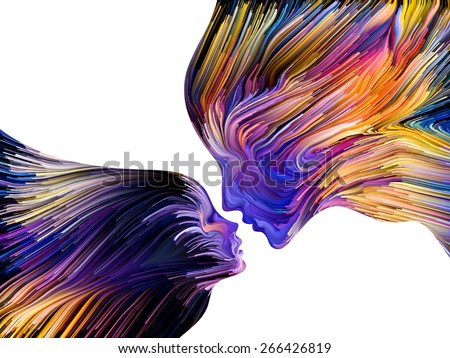 Colors of Imagination series. Interplay of streaks of color on the subject of art, creativity, imagination and graphic design - stock photo