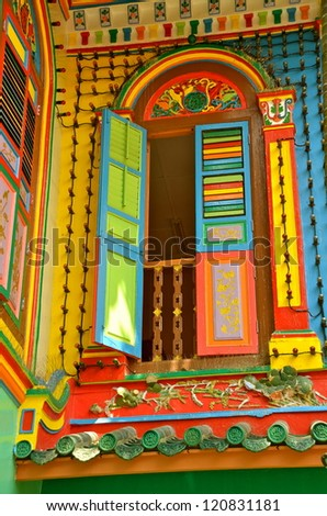 Colors of little India, Singapore - stock photo