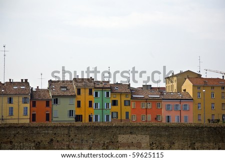 colors of Parma - stock photo