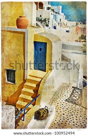 colors of Santorini - artistic picture
