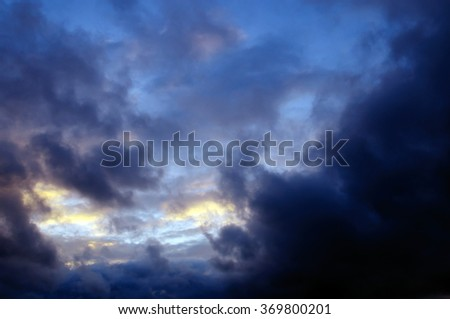 Colors of sunset sky. - stock photo
