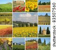 Colors of Tuscany collage - stock photo
