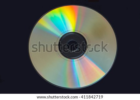 Colors reflecting off a cd isolated on black