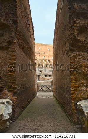 Colosseo (Colosseum) Rome, Italy - stock photo