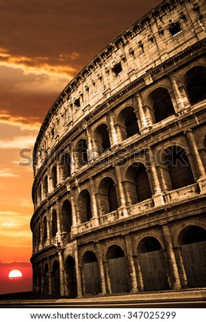 Colosseum at Sunrise or Sunset