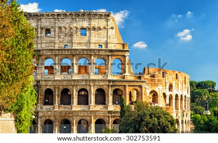 Colosseum (Coliseum) in Rome, Italy - stock photo