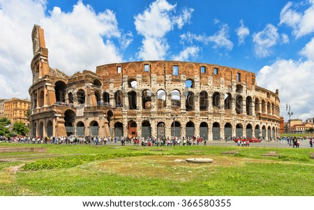 Colosseum (Coliseum) in Rome, Italy. - stock photo