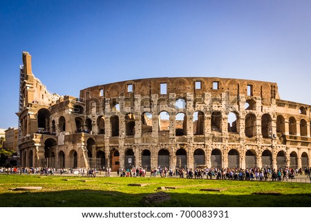 Colosseum day view in Rome