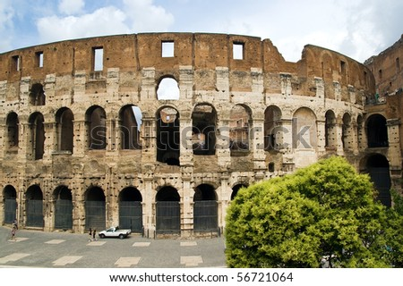 Colosseum Dome on a summer day in Rome, Italy - stock photo