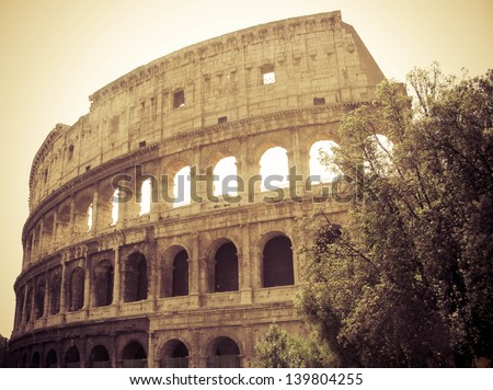 Colosseum from Rome - stock photo