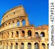 Colosseum - great italian landmarks series - stock