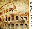Colosseum - great italian landmarks series - stock photo