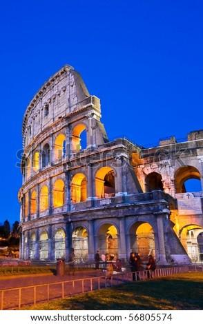 Colosseum in Dusk - stock photo