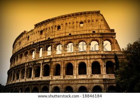Colosseum in Rome 5 - stock photo