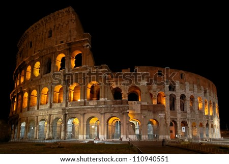 Colosseum in Rome by night