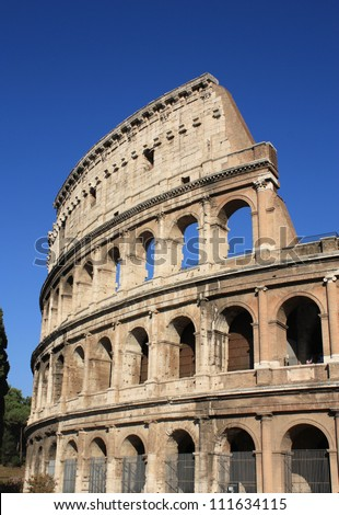 colosseum rome italy ancient architecture vertical stock photo