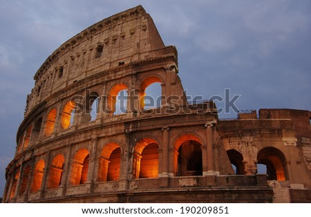 Colosseum is one of Rome's most popular tourist attractions, Italy