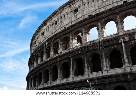 Colosseum of Rome, Italy - stock photo