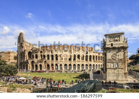 Colosseum of Rome / Italy