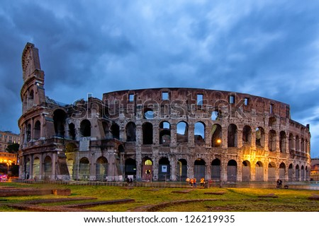 Colosseum Romanum - stock photo