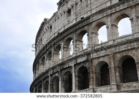 colosseum rome - stock photo