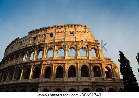 Colosseum (Rome, Italy) - stock photo