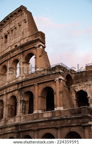 Colosseum view in evening, Rome, Italy