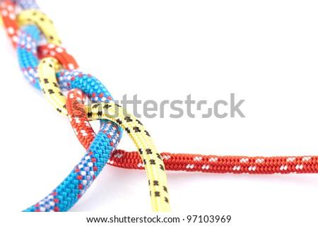 coloufull rope braid - stock photo
