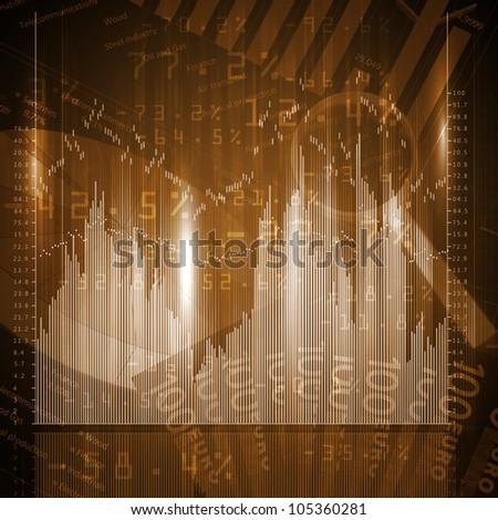 Colour business finance chart, diagram, bar, graphs - stock photo