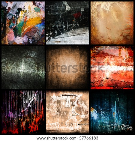 Colour, dirty textural a backgrounds - stock photo