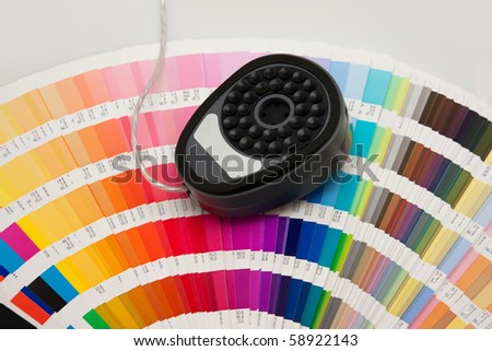 colour guide - calibration - stock photo
