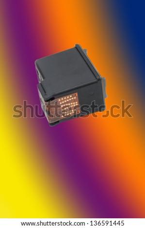 Colour Ink Cartridge - stock photo