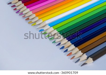 Colour pencils  close up - stock photo
