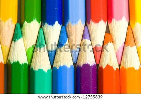 Colour pens - stock photo