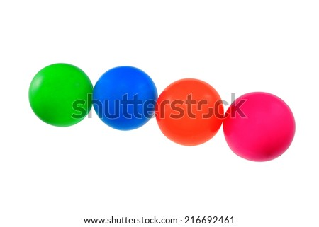 colour plastic balls from childre - stock photo