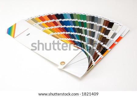 Colour scale - stock photo