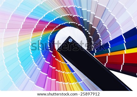 Colour scale - stock photo