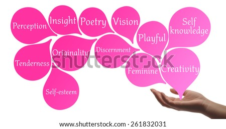 Colour Therapy - Pink healing energy - stock photo