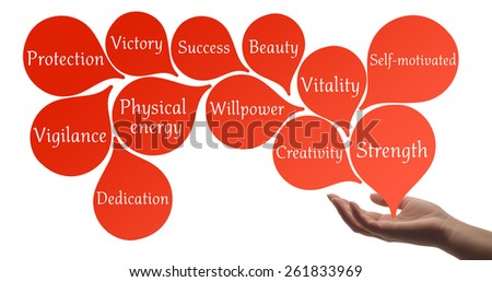 Colour Therapy - Scarlet healing energy - stock photo