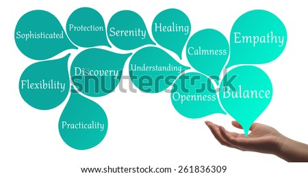 Colour Therapy - Turquoise healing energy - stock photo