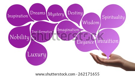 Colour Therapy - Violet healing energy - stock photo