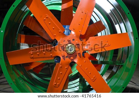 Coloured airfans - stock photo