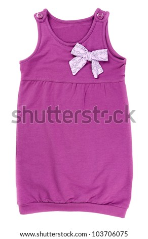 Coloured baby clothes isolated on white background