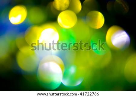 Coloured bokeh background - stock photo