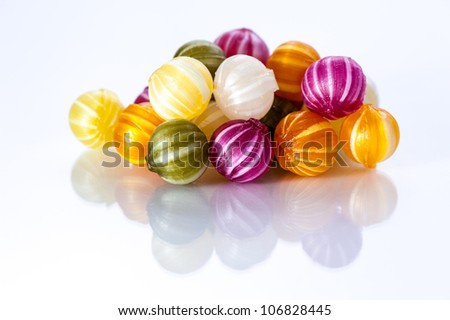 Coloured Candy isolated