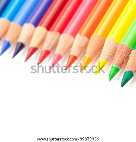 Coloured crayons - stock photo