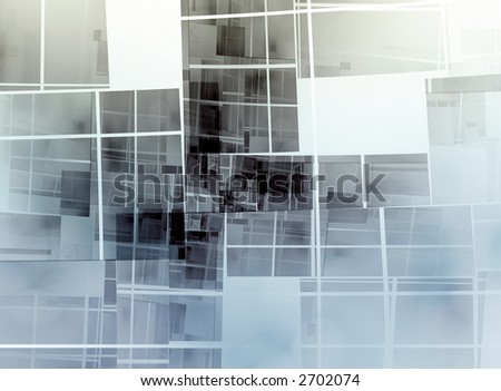 coloured geometric square composition on white background