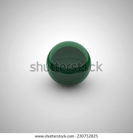 coloured glossy and shiny sphere  - stock photo